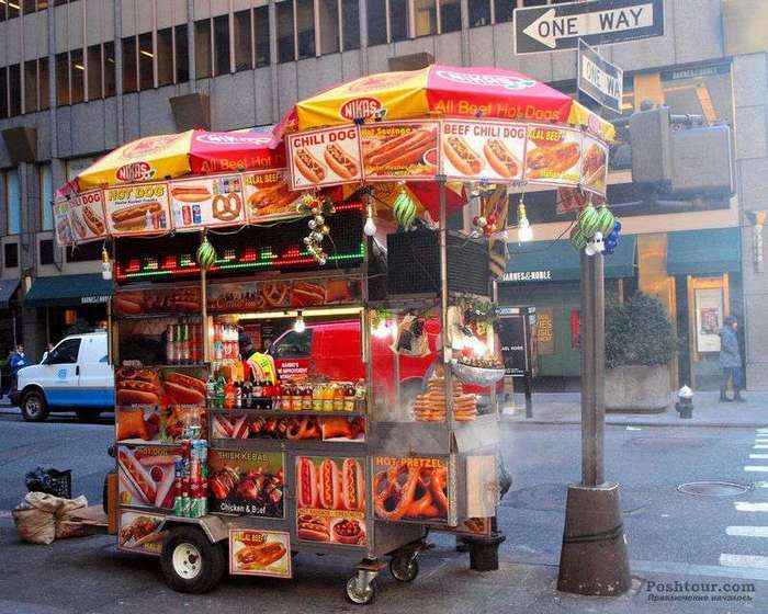 -Горячие собаки- в Нью-Йорке