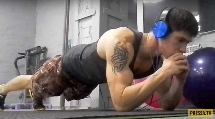 Простое и очень действенное упражнение - планка (7 фото)