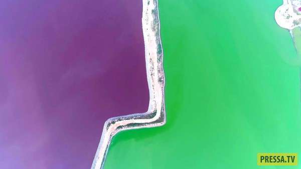 Разноцветные бассейны озера Яньху в Китае (3 фото)