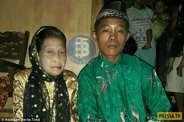 16-летний парень женился на ровеснице его бабушки (2 фото + видео)