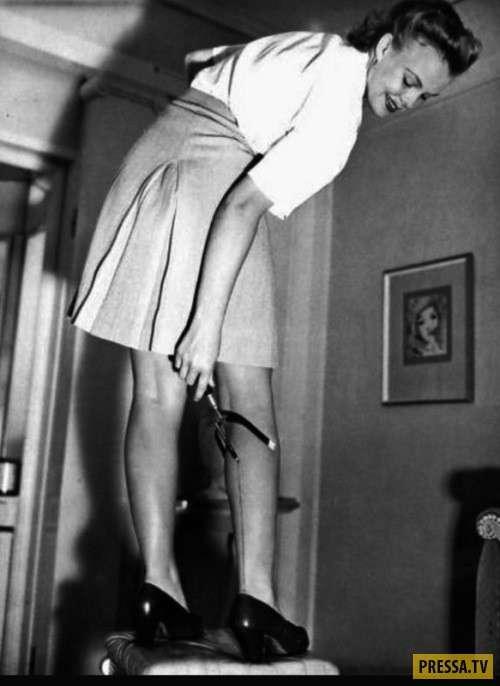 Женщины стали брить ножки из-за Второй мировой войны (9 фото)