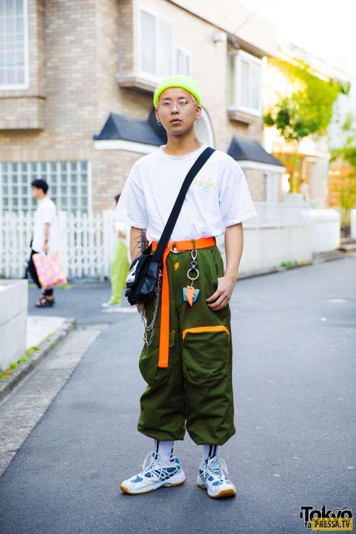 Яркие модницы и модники с улиц Токио (35 фото)