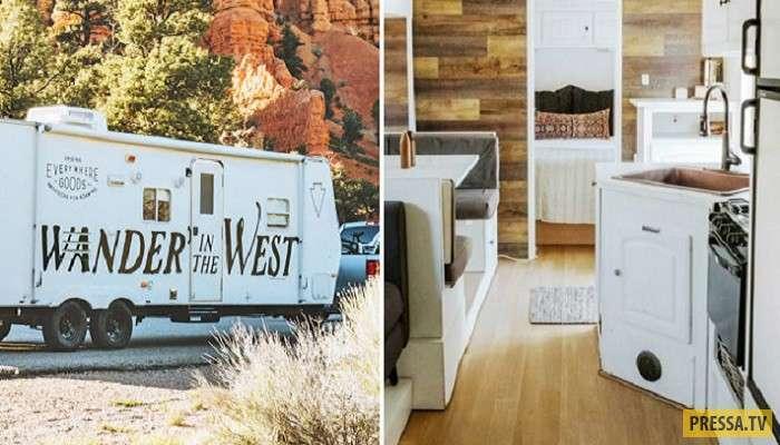 Шикарный дом на колесах из фургона (8 фото)
