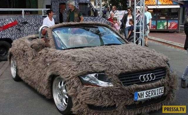 Странные и забавные автомобили с необычным тюнингом (40 фото)