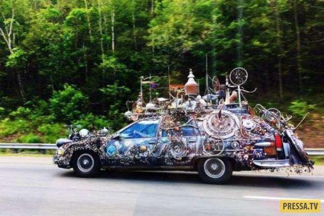 Странные и забавные автомобили с необычным тюнингом (34 фото)