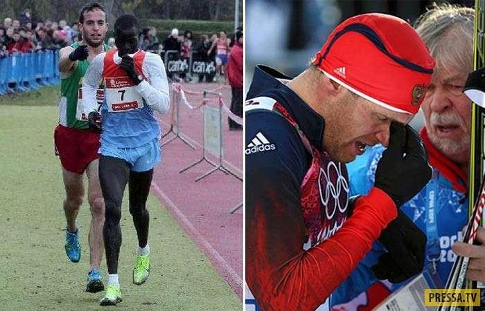 Благородные поступки спортсменов (11 фото)