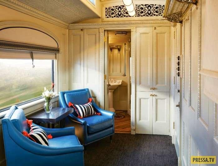 Шикарные апартаменты в необычном поезде (12 фото)