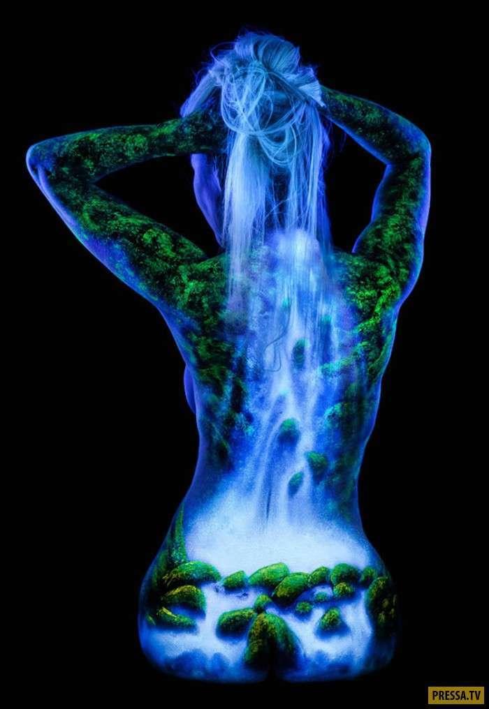 Экзотические картины на телах моделей (48 фото)