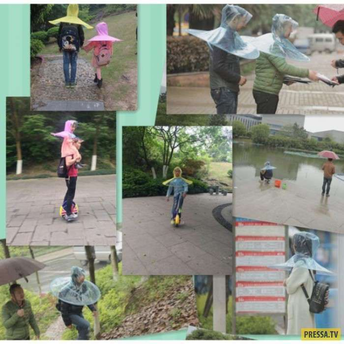 Необычный зонт от китайских дизайнеров (4 фото)
