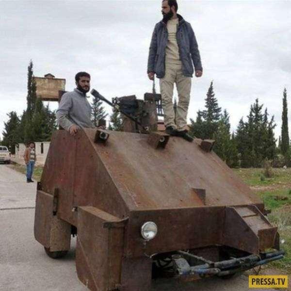 Самодельное оружие и бронетехника со всего мира (39 фото)