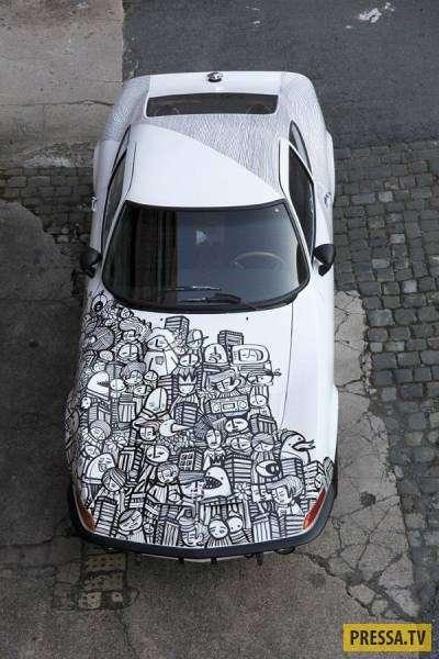 Дорогие автомобили с аэрографией (49 фото)