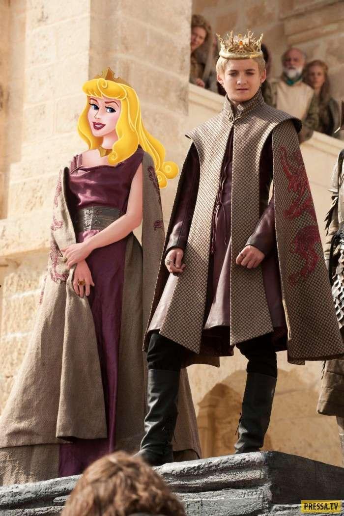 Если бы -Игру престолов- снимал Disney: художник превратил принцесс в героинь сериала