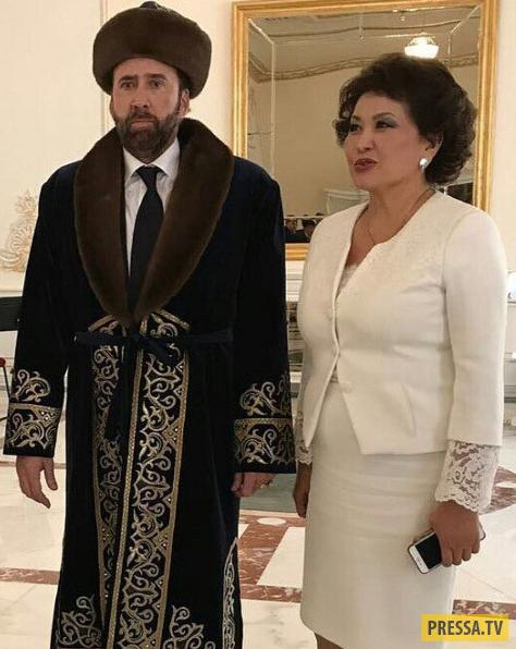 Николас Кейдж в казахском костюме стал героем мемов (9 фото)