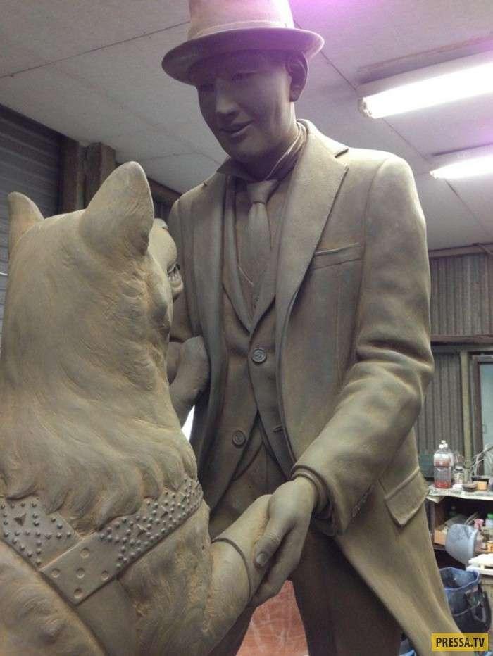 В Токийском университете установлен новый памятник Хатико (6 фото)