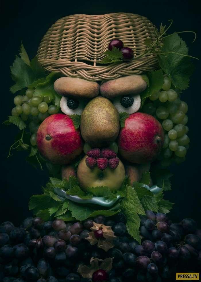 Произведения искусства из овощей (7 фото)