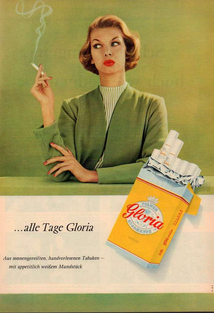Роскошная винтажная табачная реклама (31 фото)