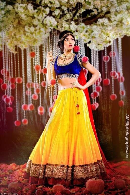 Индийские невесты в образе принцесс Диснея (10 фото)