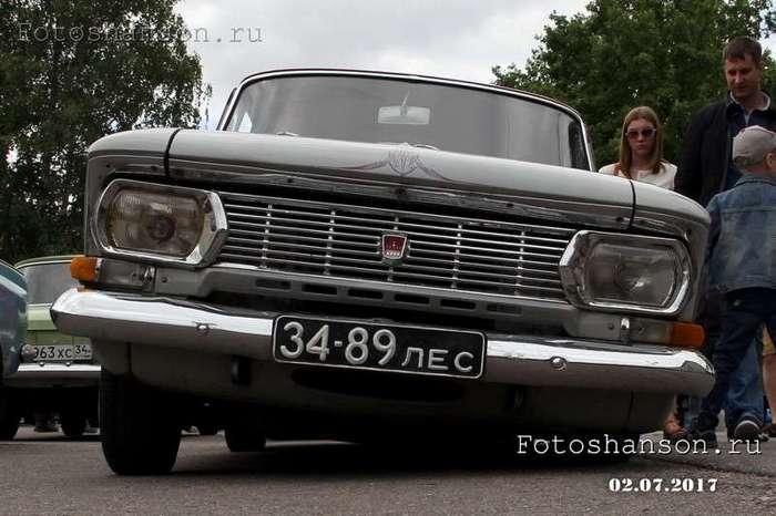 Москвич лоурайдер серо-сиреневый из Санкт-Петербурга (14 фото)