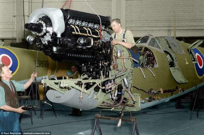 Уникальные цветные снимки британских -спитфайров- Второй мировой (11 фото)
