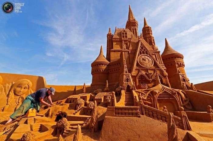 Фестиваль песчаных скульптур в Бельгии (25 фото)