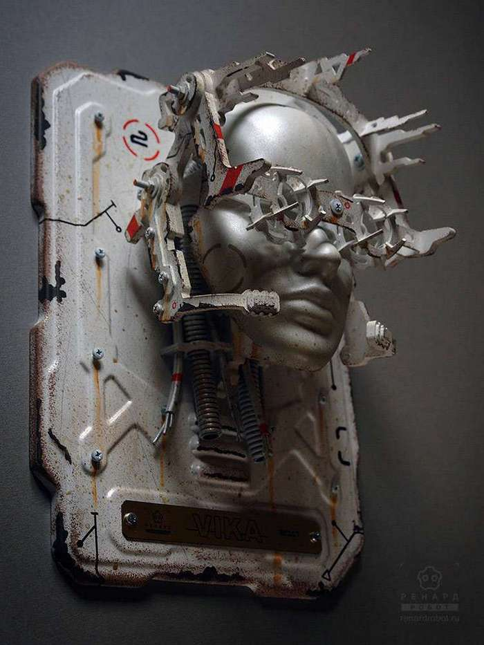 Настенная маска -Киборг- (12 фото)