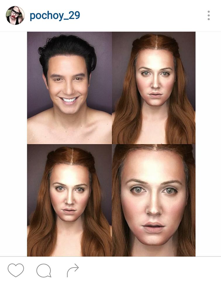 Мужчина превращает себя в популярных киногероинь с помощью макияжа (11 фото)
