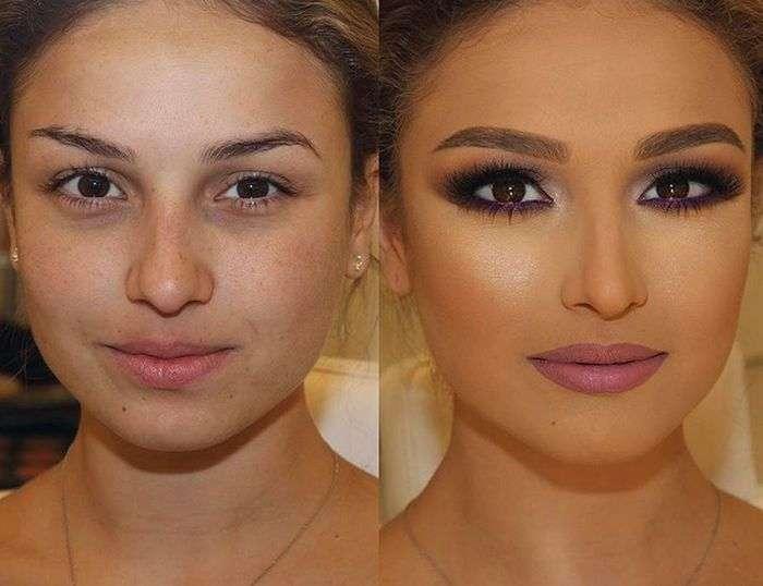 Чудесные перевоплощения с помощью макияжа (16 фото)