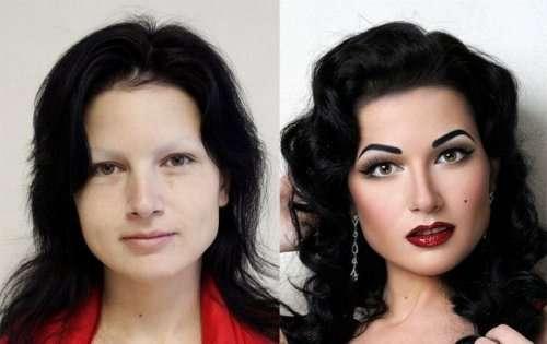 Как умелый макияж может преобразить девушек (24 фото)