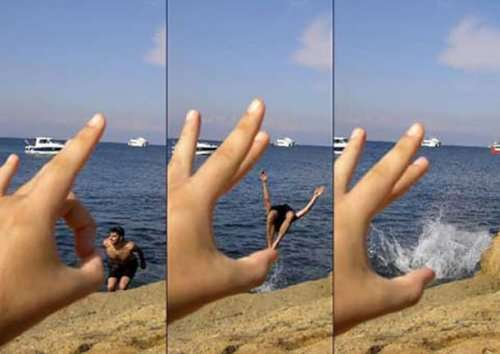 Прикольные фотографии, на которых всё решают ракурс и перспектива (23 шт)