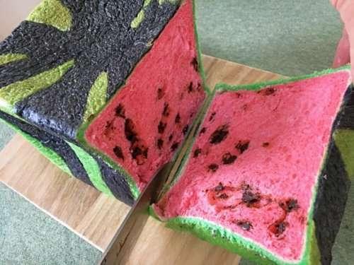 Вкусный хлеб в виде квадратных арбузов от японской пекарни Bo-Lo'Gne (6 фото)