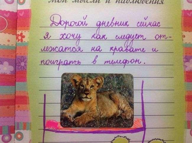 Забавные строки из девичьих дневников (16 фото)