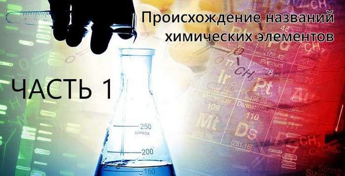 Происхождение названий химических элементов. Часть 1 (1 фото)