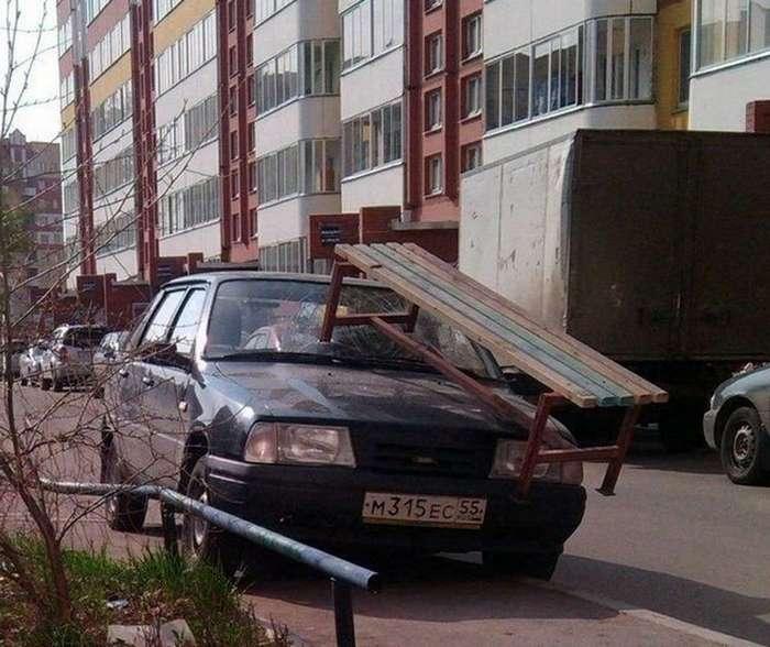 Самая изощрённая автомобильная месть (25 фото)