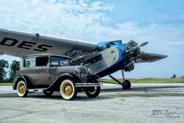 Американский пассажирский самолёт Ford Trimotor по прозвищу -Жестяной Гусь- (10 фото)