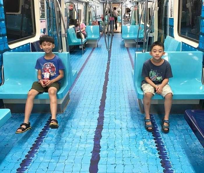 -Спортивное метро- в Тайбэе (7 фото)