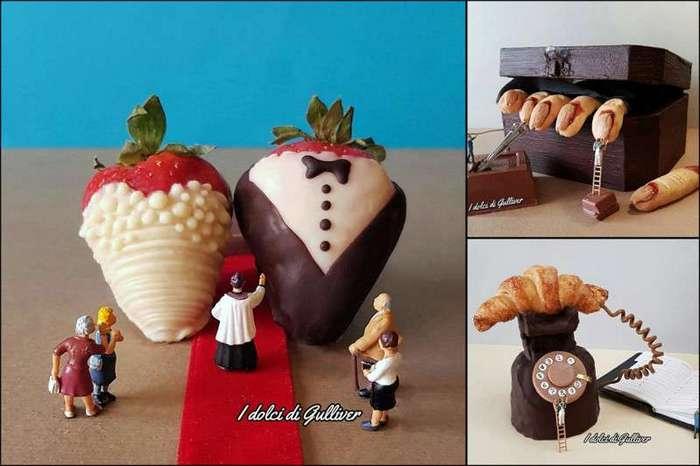 Эти миниатюрные десерты итальянского кондитера жалко есть (22 фото)