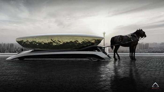 Итальянцы придумали концепт электромобиля с лошадьми (7 фото)