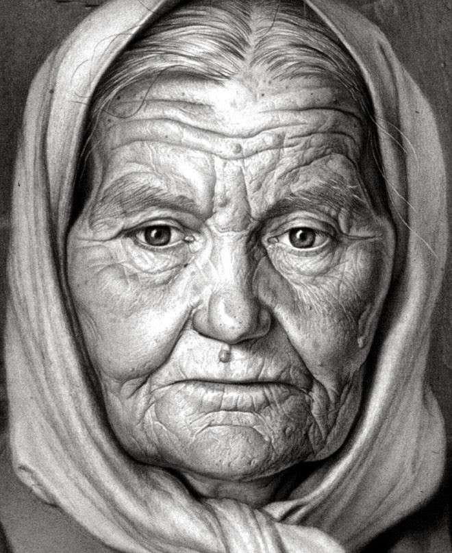 Потрясающе реалистичные рисунки, выполненные древесным углём (26 фото)