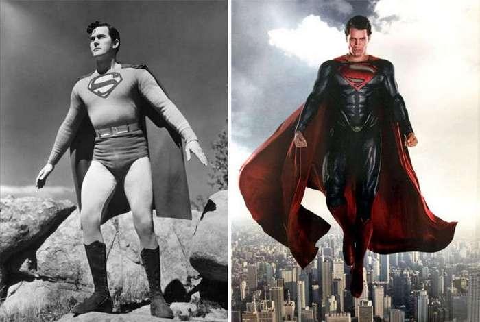 Легендарные супергерои тогда и сейчас (18 фото)