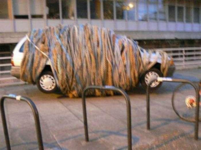 16 впечатляющих примеров изощренной мести наглым автомобилистам (17 фото + 2 видео)