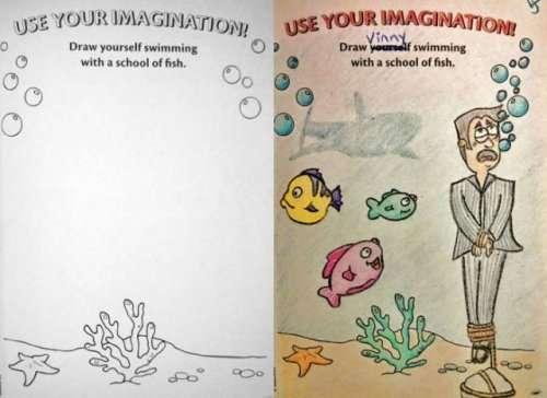 Детские раскраски в руках взрослых превращаются в хоррор-рисунки (19 фото)