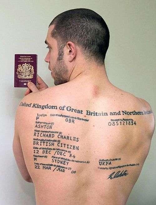 Татуировка паспорта (2 фото)