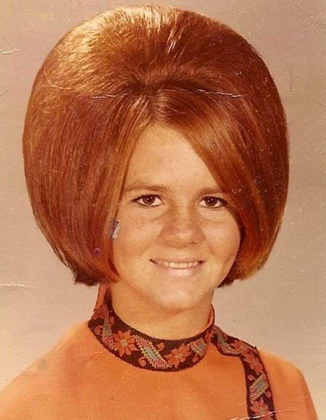 Огромные женские прически 60-х годов (30 фото)