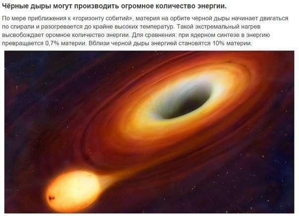 9 фактов о чёрных дырах (9 фото)