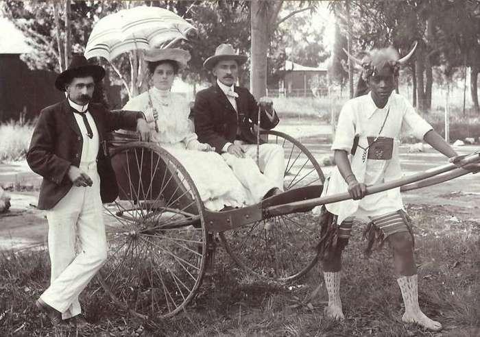 Неизвестная Африка. Фотографии 1870-1930 годов <br><br><b><b>На прогулке. Южная Африка, начало XX века</b></b><br><img class=