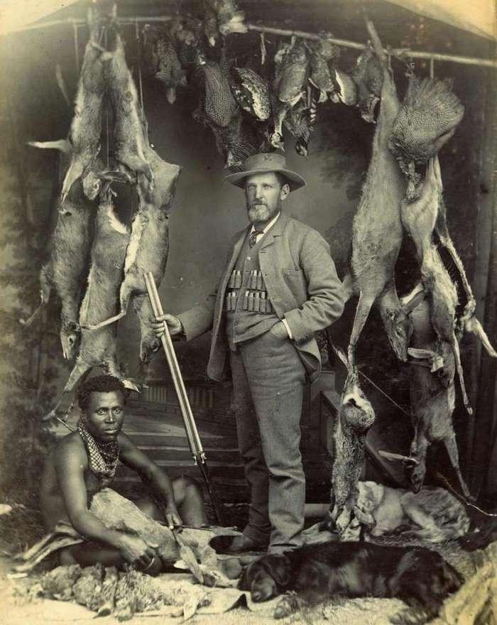 Неизвестная Африка. Фотографии 1870-1930 годов <br><br><b><b>Европеец поохотился. Южная Африка. 1890</b></b><br><img class=