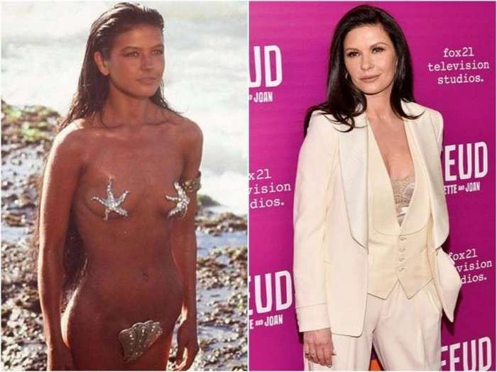 Как выглядели голливудские актрисы в своих первых фильмах <br><br><b><b>Кэтрин Зета-Джонс «Тысяча и одна ночь», 1990</b></b><br><img class=
