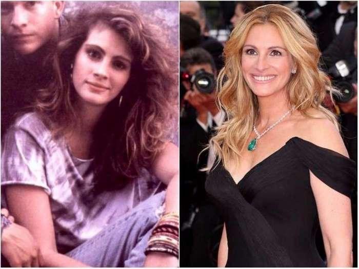 Как выглядели голливудские актрисы в своих первых фильмах <br><br><b><b>Джулия Робертс «Удовлетворение», 1988</b></b><br><img class=
