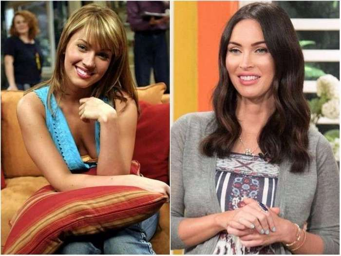 Как выглядели голливудские актрисы в своих первых фильмах <br><br><b><b>Меган Фокс «Королева экрана» (2003 — 2006)</b></b><br><img class=