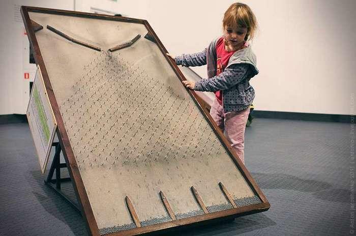 Музей -Экспериментаниум- Шутка конечно. Это коробка защищает от посторонних звуков, в нее надо засовывать голову и орать что есть мочи. Эта девочка наорала на четыре лампочки.